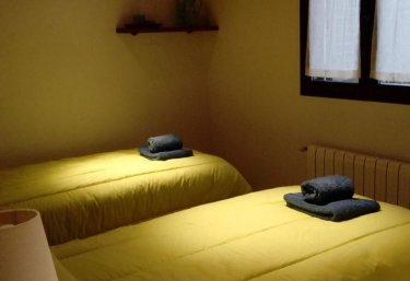 Double bedroom with bedspreads